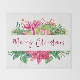 Merry Christmas Design Elements 1 Throw Blanket