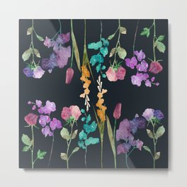 Flowers vs Flowers at Nigth Metal Print