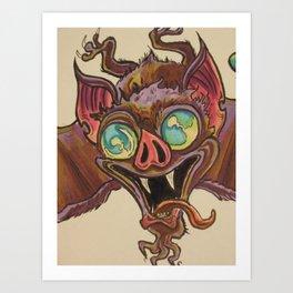 bat shite Art Print