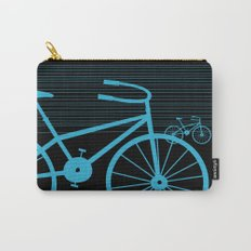 Blue Bike by Friztin Carry-All Pouch