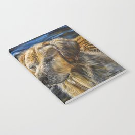 One Wet Golden Retriever by Teresa Thompson Notebook