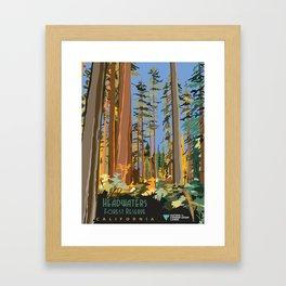 Vintage poster - Headwaters Forest Reserve Framed Art Print