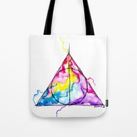 harry potter Tote Bags featuring harry potter by Simona Borstnar