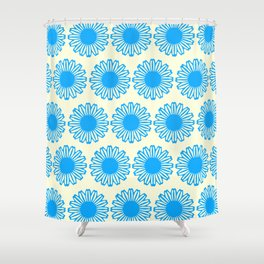Vintage Flower_Turquoise Shower Curtain