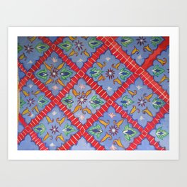 Tile Pattern Art Print
