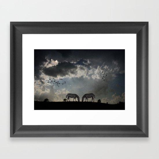 On  the Hill Framed Art Print