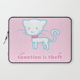 Taxation Is Theft Kitty Laptop Sleeve