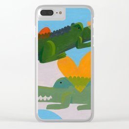 alligator love forever loop Clear iPhone Case