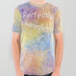 Perfectly Imperfect - Wabi-Sabi (white, blue, orange, yellow, purple) All Over Graphic Tee