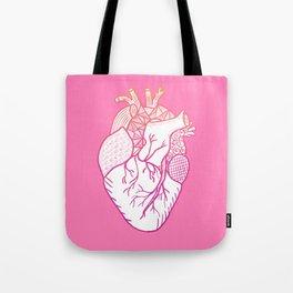 Designer Heart Pink Tote Bag