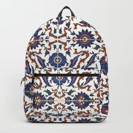 Iznik Pattern Red Blue White Backpack
