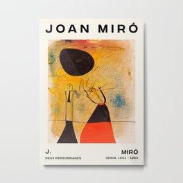 Joan Miro - Deux Personnages - Exhibition Poster - Art Print - Vintage Paintings Metal Print