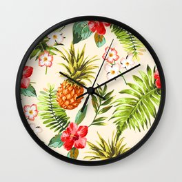 Wild Pinapple Wall Clock