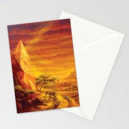 African Savannah Magic Sunstone Landscape Stationery Cards