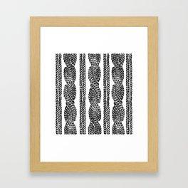 Cable Row Framed Art Print