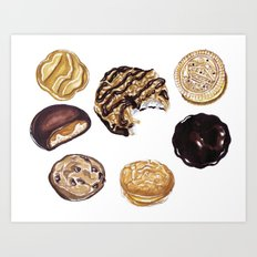 Girl Scout Cookies Art Print