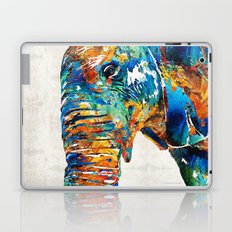 Colorful Elephant Art by Sharon Cummings Laptop & iPad Skin