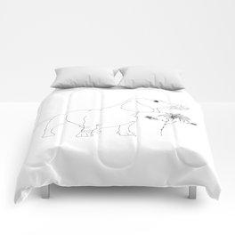 Dachshund illustration Comforters