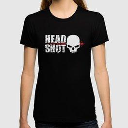 Headshot white T-shirt