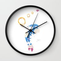the lord of the rings Wall Clocks featuring The Lord Of The Rings by Jæn ∞