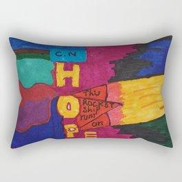 Rocket Hope Engine Rectangular Pillow