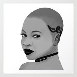 Illustration of Danai Gurira Art Print