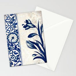 Blue Oriental Vintage Tile 03 Stationery Cards