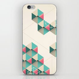 Empty cubes iPhone Skin