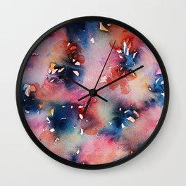 Pink Flowers Perfume Wall Clock
