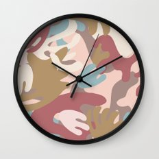 Abstract Leaf Motif Wall Clock