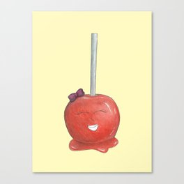 Blushing Toffee Apple - Yellow Canvas Print