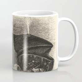 Antique Baleen Whale Illustration Coffee Mug