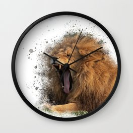 A Roaring Picture Wall Clock