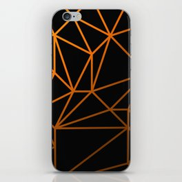 Golden Web - Black And Gold Geometric Design iPhone Skin
