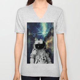 Moon Man Unisex V-Neck