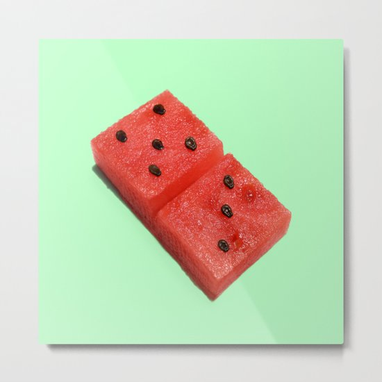 WATERMELON DOMINO Metal Print
