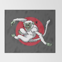 Ghost Monkey Throw Blanket