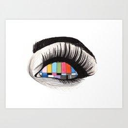 tv eye Art Print
