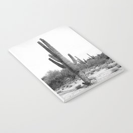Cactus, Cacti, Black and White Notebook