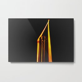 Macro Abstraction Metal Print