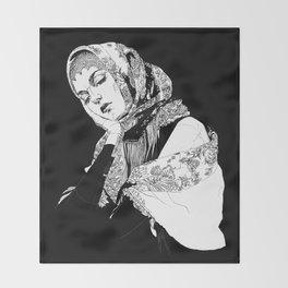 Lady Russia. Yury Fadeev© Throw Blanket