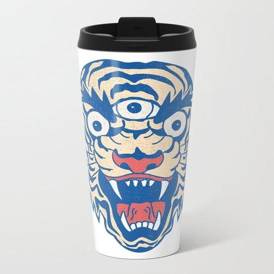 Third Eye Tiger Flash Metal Travel Mug