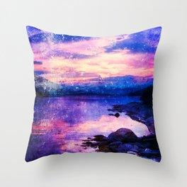 Abstract Sunburst Beach Throw Pillow