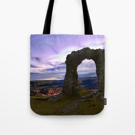 Town on the edge of forever Tote Bag