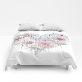 bird of paradise , paradisebirds , simple floral graphic design , gift for gardener Comforters