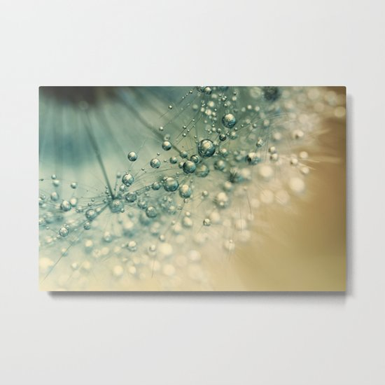 Sea Green Sparkles Metal Print