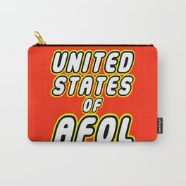 UNITED STATES OF AFOL in Brick Font Logo Design by Chillee Wilson Carry-All Pouch