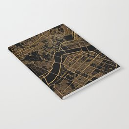 Black and gold Seoul map Notebook