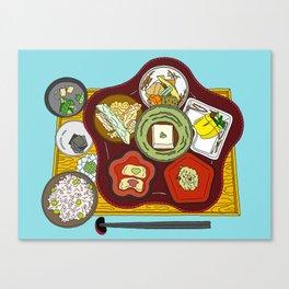 Japanese Veggie Platter Canvas Print