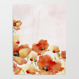 Beautiful Poppies #society6 Poster